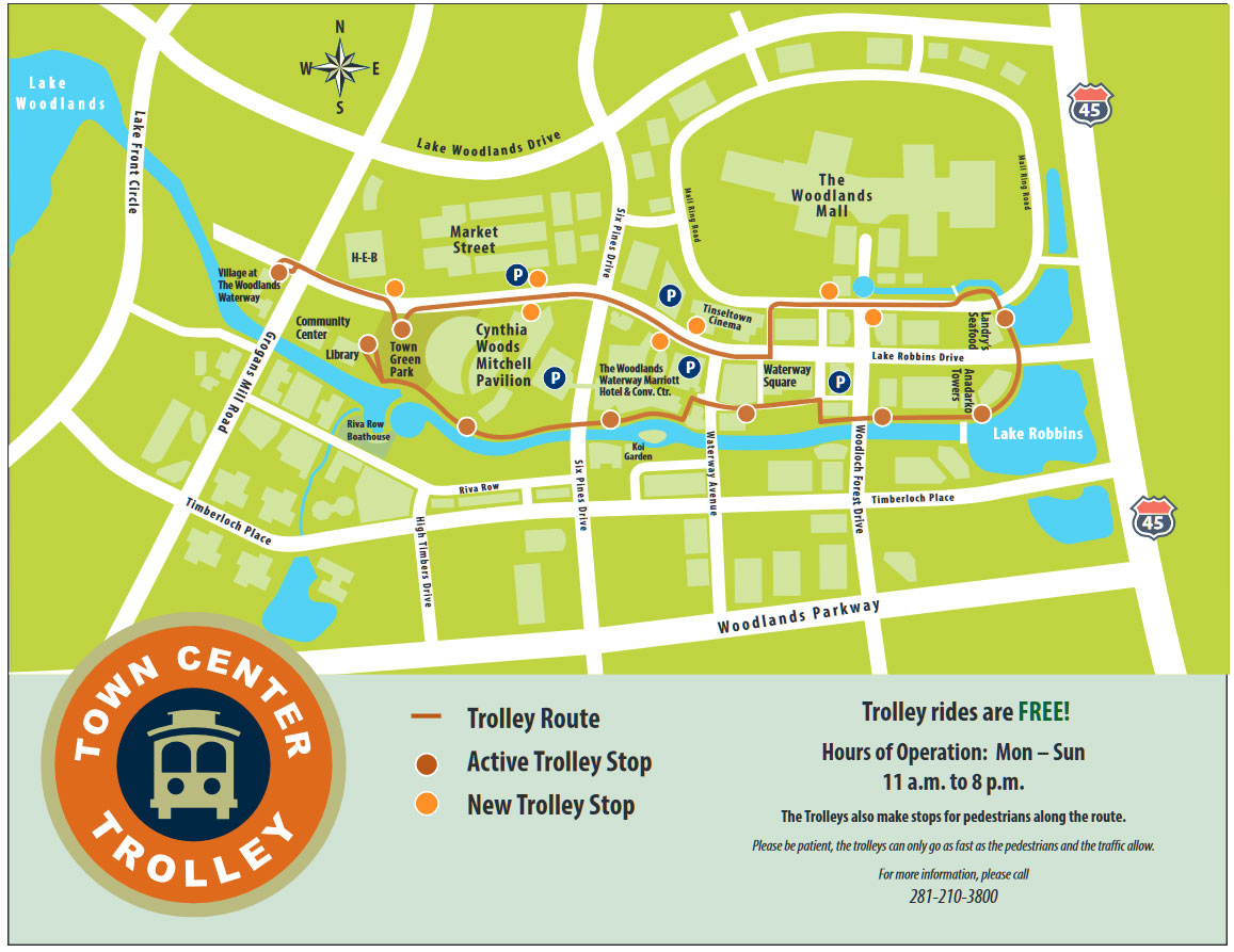 trolley map for the woodlands things to do when it is cold out enjoy the waterway jordan schilleci jo & co. realty group