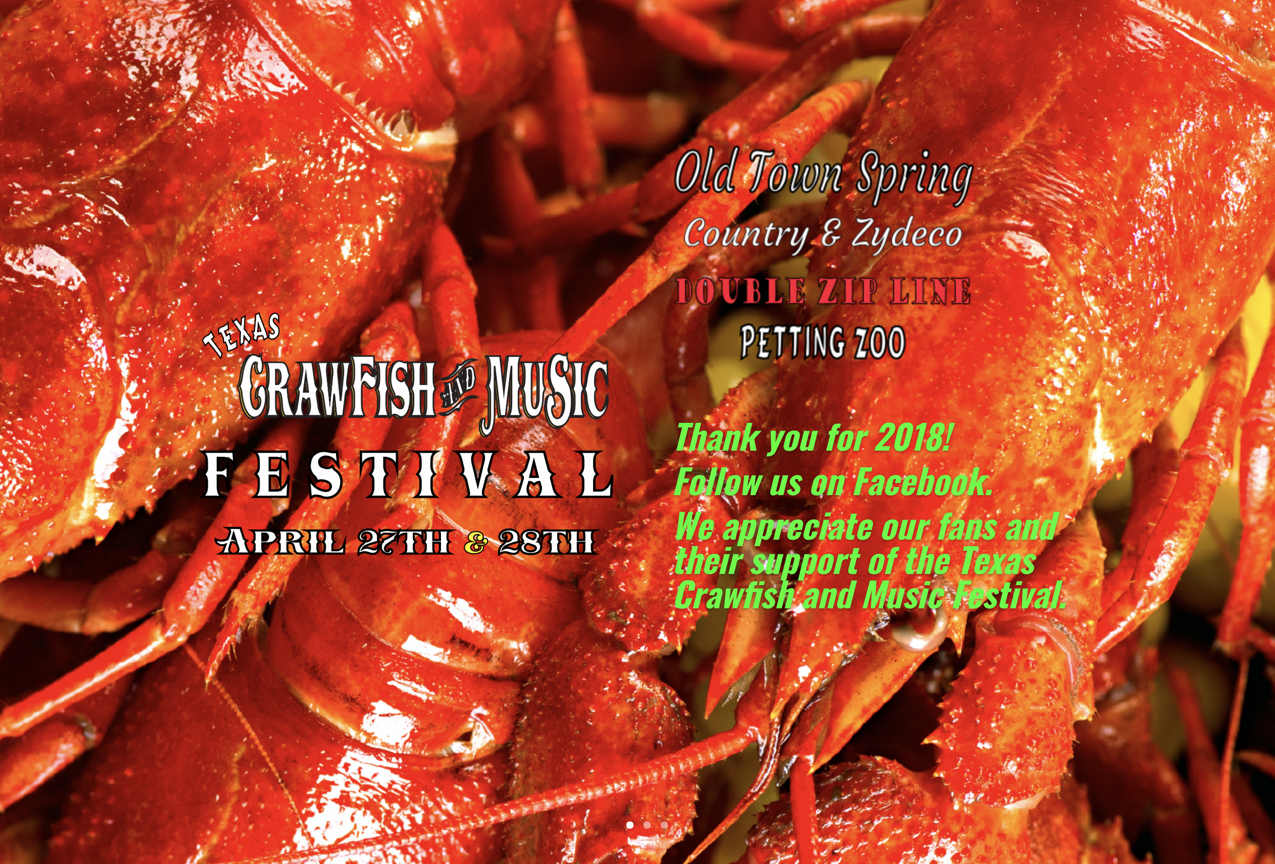 old town spring, crawfish festival, april each year, music events petting zoo and more