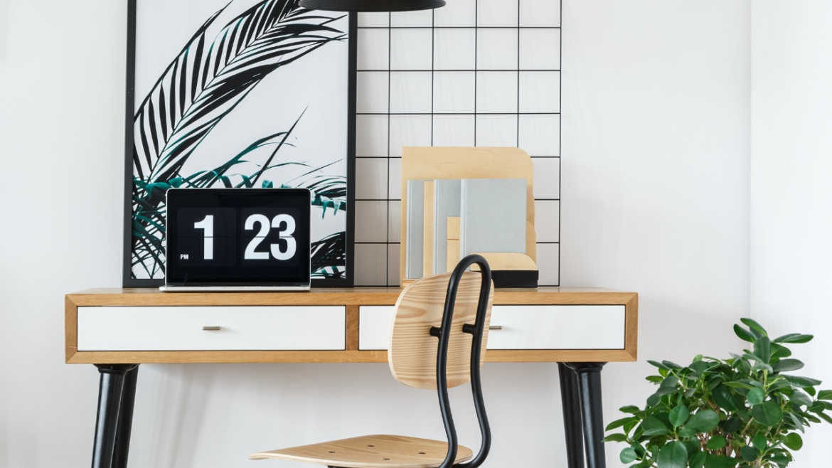 desk with clock and pretty piece of art - local realtor answers how much are closing costs in texas