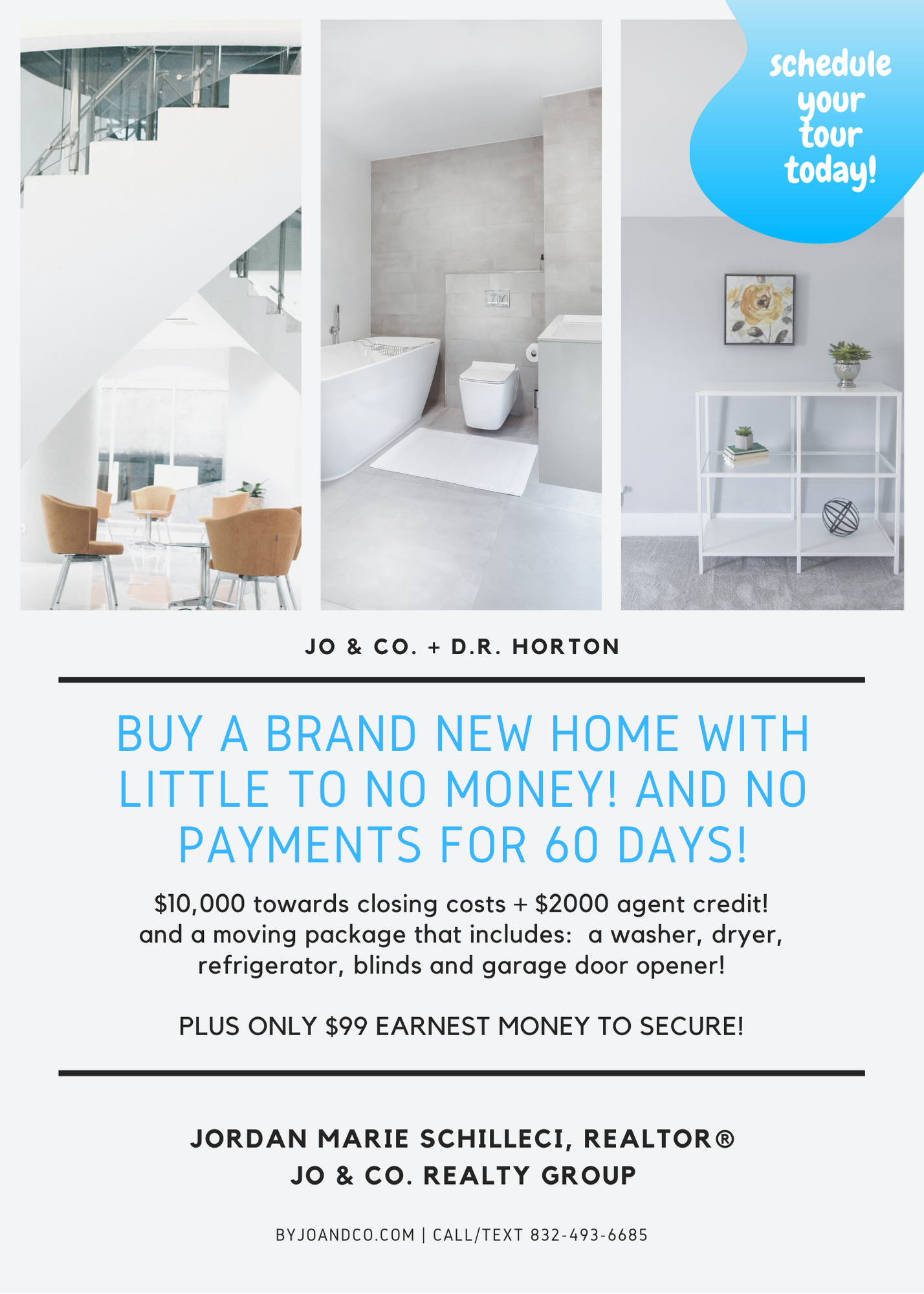 Buy a brand new home with little to no money! and no payments for 60 days!