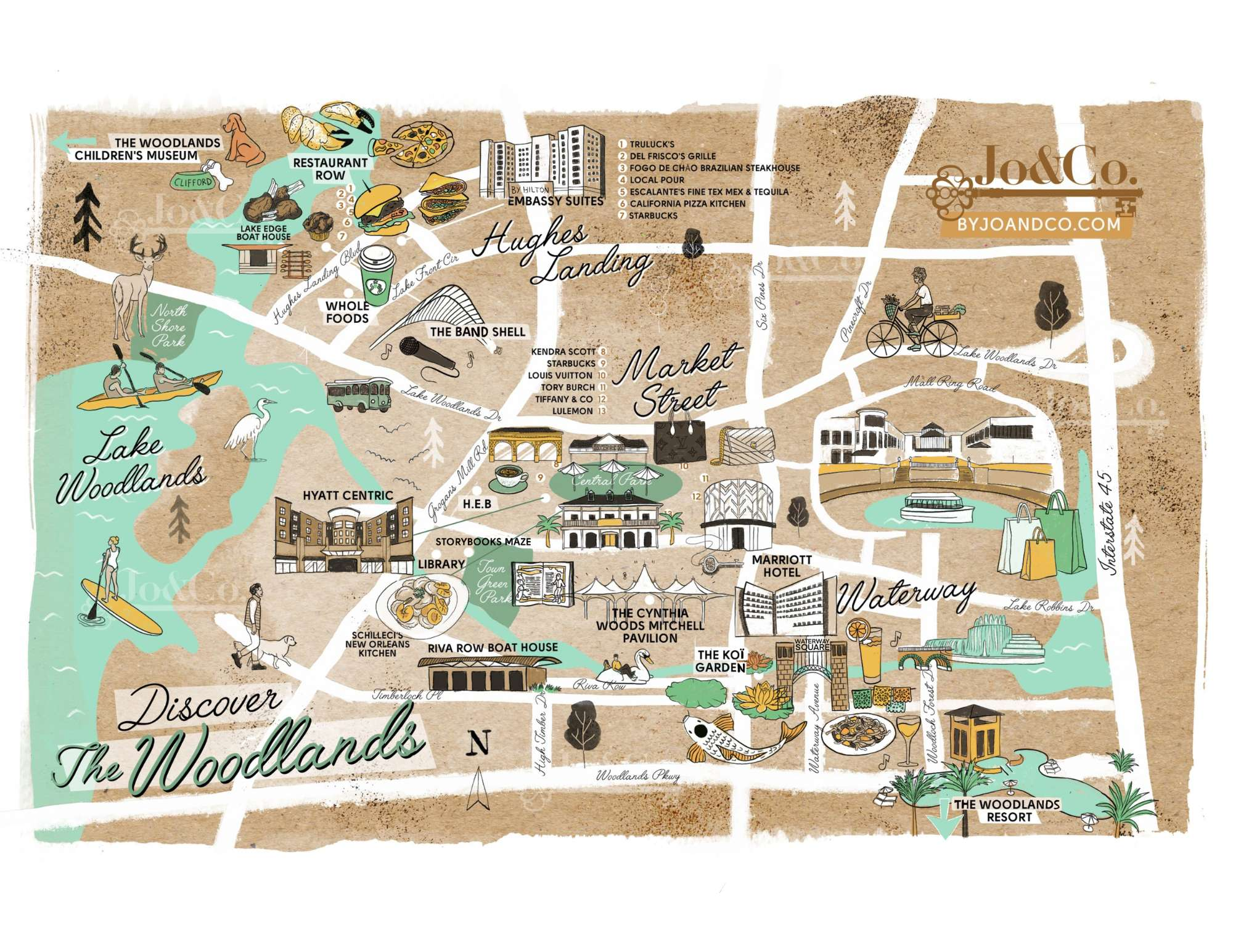 Discover The Woodlands - Map of the Front of The Woodlands